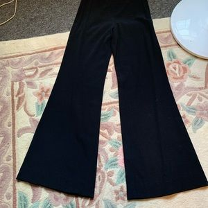 Jean Paul Gaultier black bell bottom pants